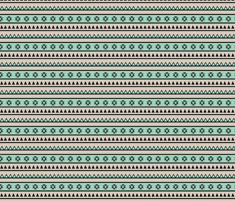 Aztec Mint (Large) fabric by kimsa on Spoonflower - custom fabric