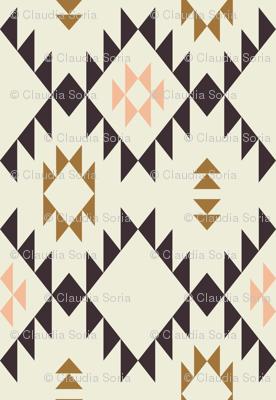 Navajo - Golden Brown Pink - vertical