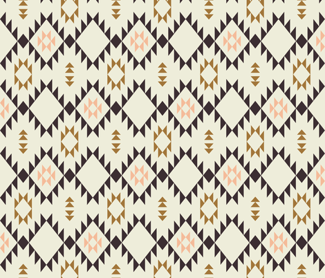 Navajo - Golden Brown Pink - vertical fabric by kimsa on Spoonflower - custom fabric