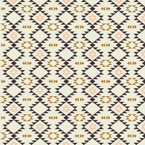 Navajo - Golden brown pink (small) fabric by kimsa on Spoonflower - custom fabric