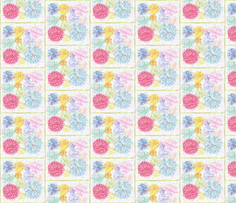 Dahlias HD fabric by vos_designs on Spoonflower - custom fabric