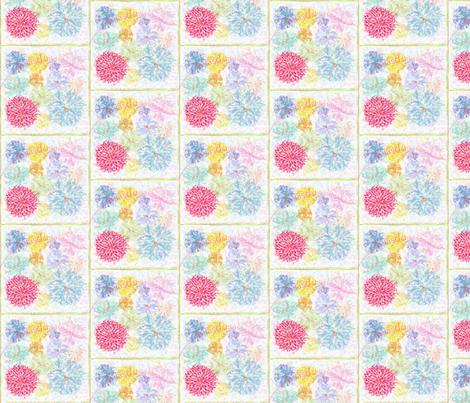 Dahlias HD fabric by dsa_designs on Spoonflower - custom fabric