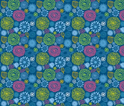 flora pattern fabric by kostolom3000 on Spoonflower - custom fabric