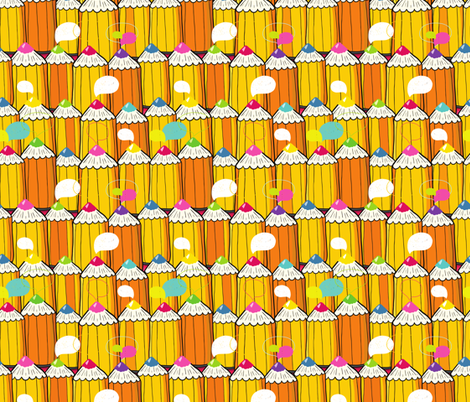 pencil pattern fabric by kostolom3000 on Spoonflower - custom fabric