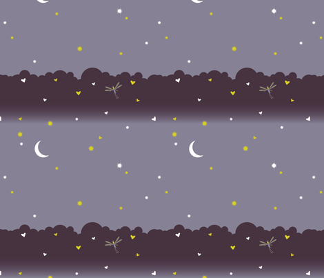 woods_at_night fabric by medamade on Spoonflower - custom fabric