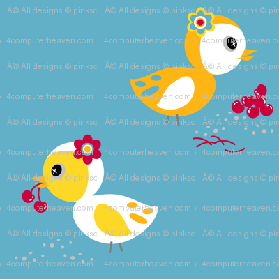 Cherry Birdy Love! - Sweet Birds of Summer - Summer Party - © PinkSodaPop 4ComputerHeaven.com