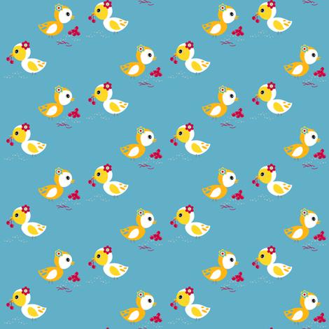 Cherry Birdy Love! - Sweet Birds of Summer - Summer Party - © PinkSodaPop 4ComputerHeaven.com fabric by pinksodapop on Spoonflower - custom fabric