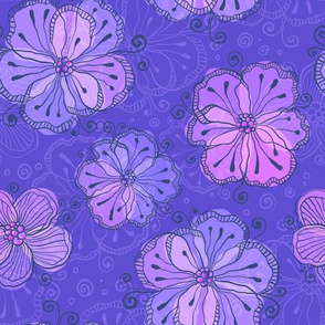 Violet flowers pattern