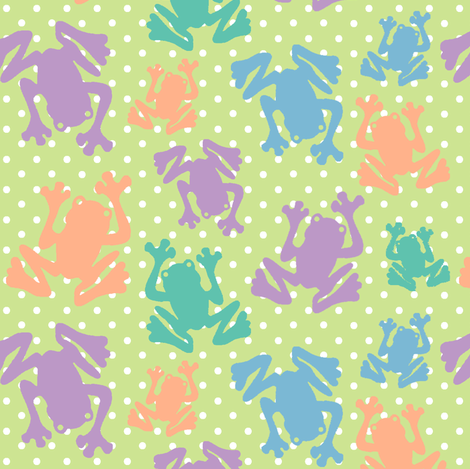 Polka Dot Frogs  fabric by fridabarlow on Spoonflower - custom fabric