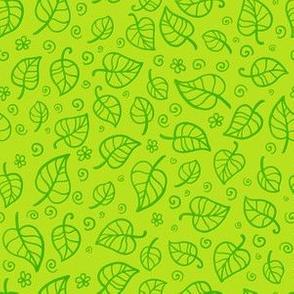 Green foliage seamless pattern