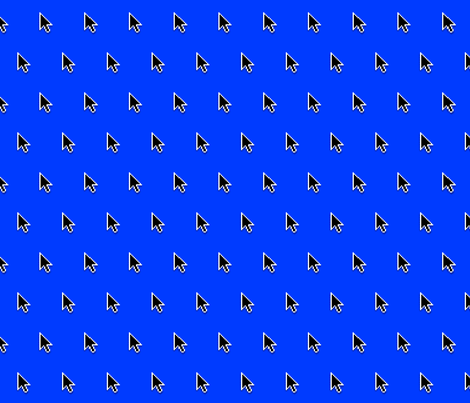 a few pointers (blue screen) fabric by weavingmajor on Spoonflower - custom fabric