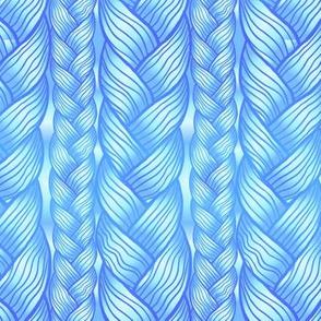 Blue braided plaits