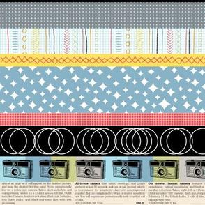 Panchromatic || vintage retro cameras typography geometric text stripes stars atomic argyle