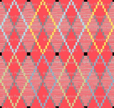 Penny Loafer (8-Bit Red) || pixel pixelated 80s argyle preppy fashion geek chic nerd geometric diamonds