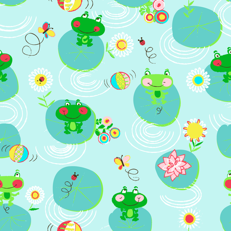 FROGS_and_DOTS_okok fabric by lijo on Spoonflower - custom fabric