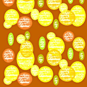 Fruits on tan