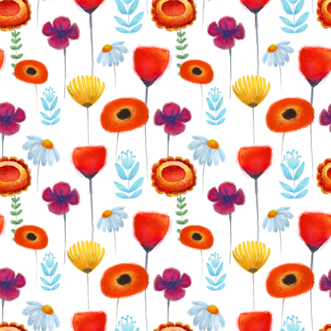 Summer field fabric by yaskii on Spoonflower - custom fabric