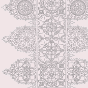 Ice pink lace - trim