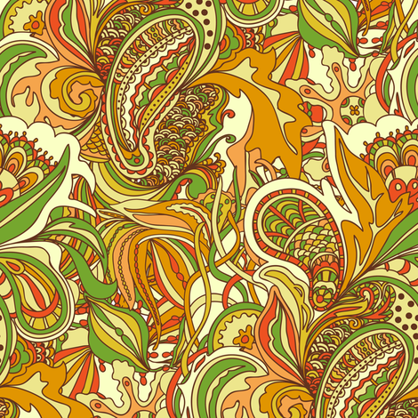 Abstract doodles fabric by yaskii on Spoonflower - custom fabric