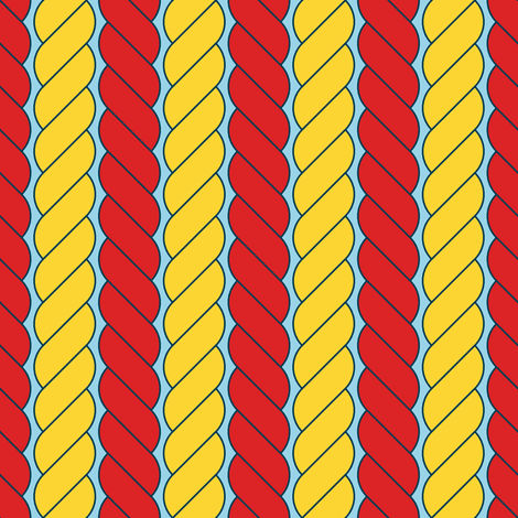 rope stripe fabric by sef on Spoonflower - custom fabric