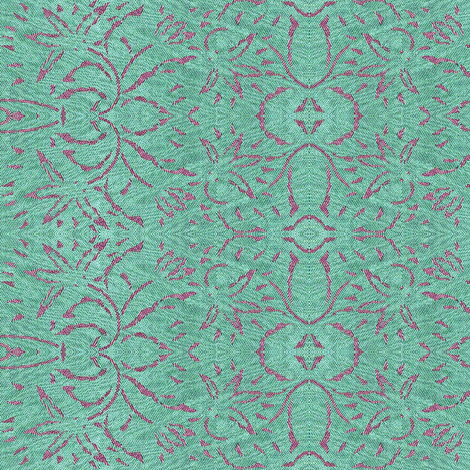 Stream of Lilac - lilac on aqua fabric by materialsgirl on Spoonflower - custom fabric
