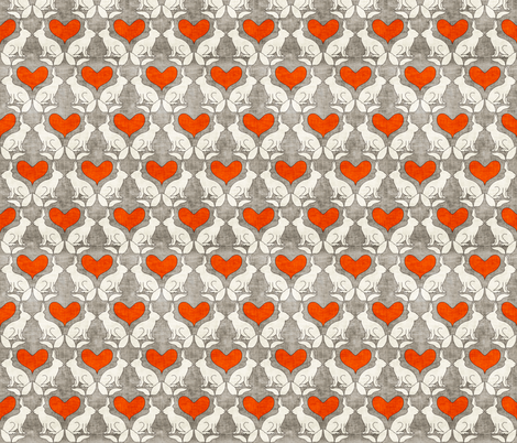 vintage_rabbits fabric by holli_zollinger on Spoonflower - custom fabric