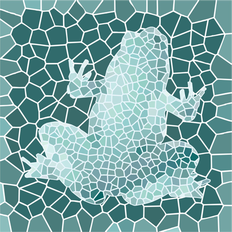 mosaic_frog fabric by crystalef on Spoonflower - custom fabric