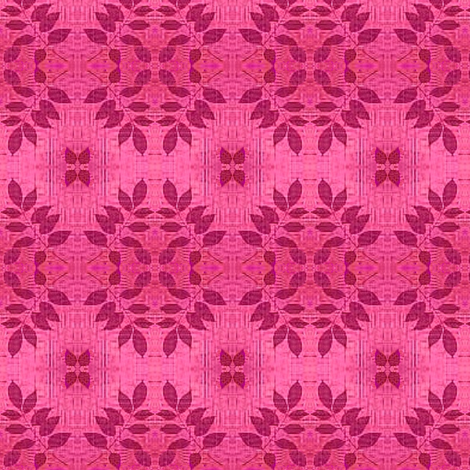 leafy flower dusty rose misty pink fabric fabric by dk_designs on Spoonflower - custom fabric