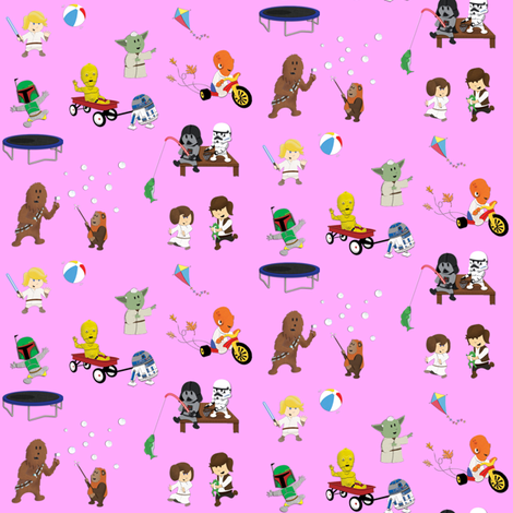 Star Wars Kids - Lavender fabric by nixongraphix on Spoonflower - custom fabric