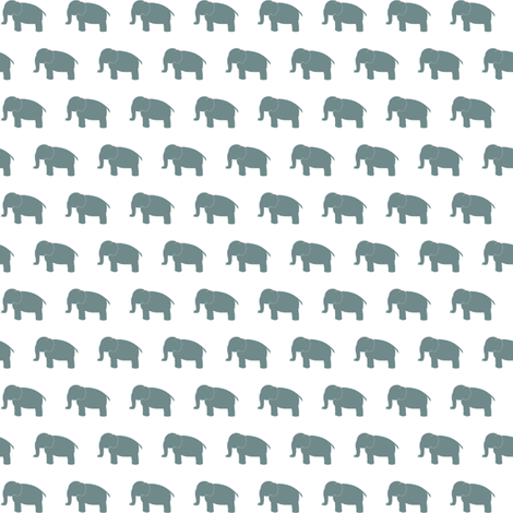 blueelephant fabric by mrshervi on Spoonflower - custom fabric