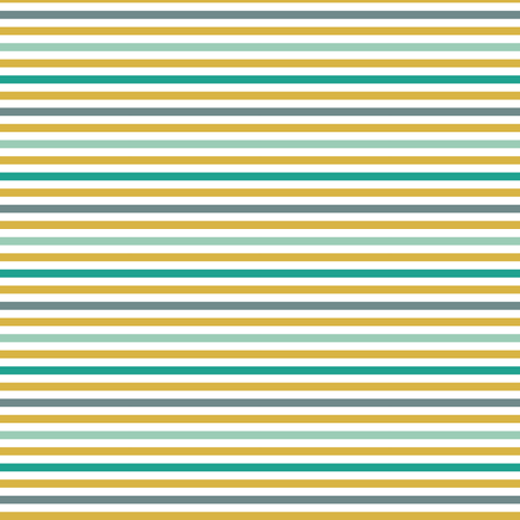 emerald gold stripe fabric by mrshervi on Spoonflower - custom fabric