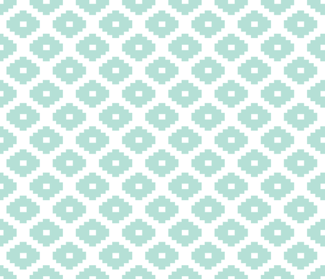 Aztec Minty fabric by honey&fitz on Spoonflower - custom fabric