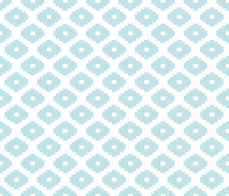 Aztec Aqua fabric by honey&fitz on Spoonflower - custom fabric