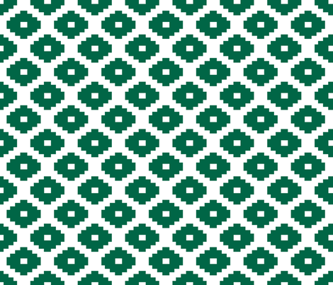 Aztec Malachite fabric by honey&fitz on Spoonflower - custom fabric