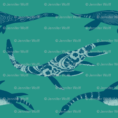 Graceful Plesiosaurs