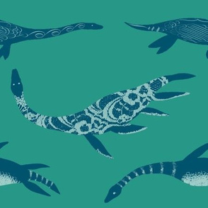 Graceful Plesiosaurs