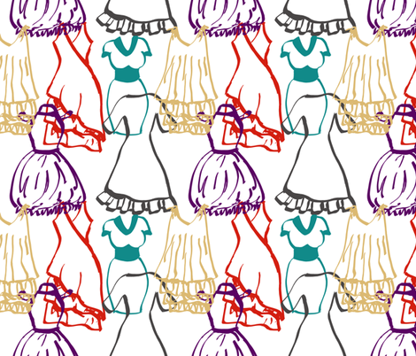 Dress doodles fabric by halfaringcircus on Spoonflower - custom fabric