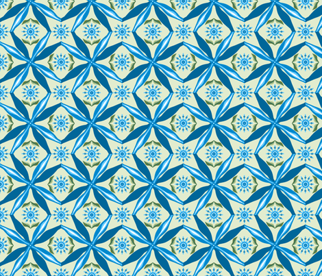 bowtie_grid_single_pinwheel_D_flowers_leaves_green