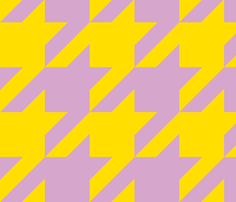 The Houndstooth Check ~ Easter ~ 4 inch checks fabric by peacoquettedesigns on Spoonflower - custom fabric