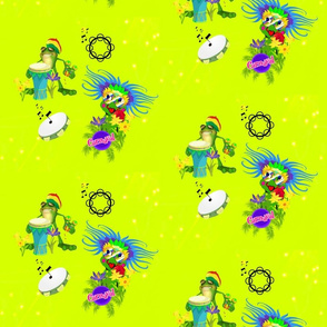Carnaval Party Frogs