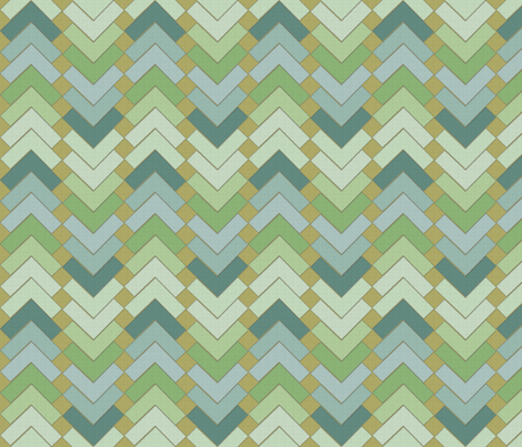 chevron squares meadow mist fabric by glimmericks on Spoonflower - custom fabric