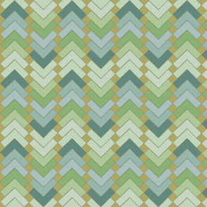chevron squares meadow mist
