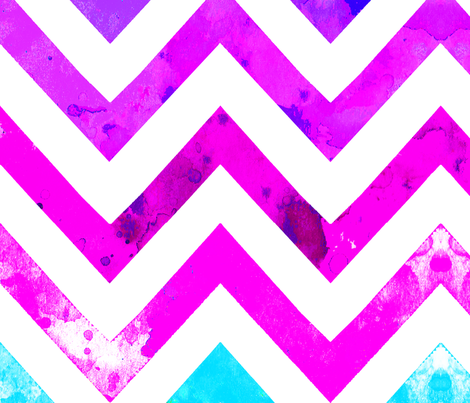 watercolor chevron blues pinks fabric by katarina on Spoonflower - custom fabric