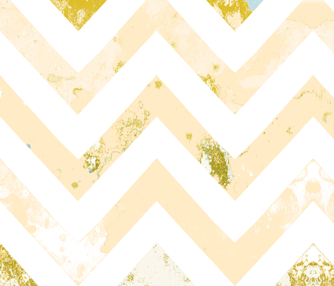 watercolor chevron rust vintage  fabric by katarina on Spoonflower - custom fabric