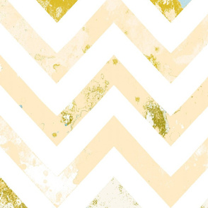 watercolor chevron rust vintage