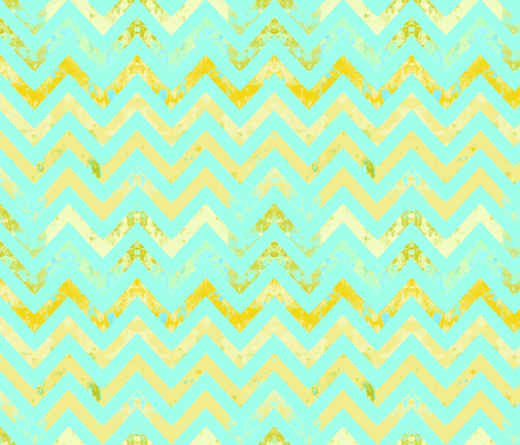 chevron rust aqua textured fabric by katarina on Spoonflower - custom fabric