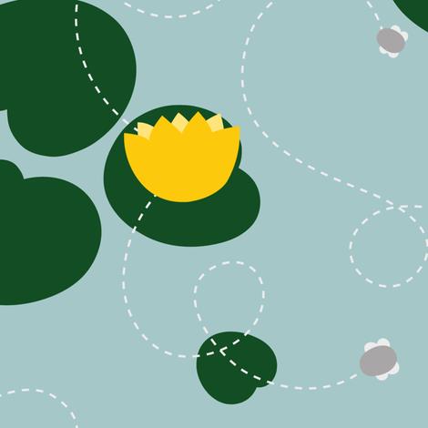 Froggy pattern fabric by kondratya on Spoonflower - custom fabric