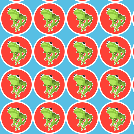 lil' froggie  fabric by lazydee on Spoonflower - custom fabric