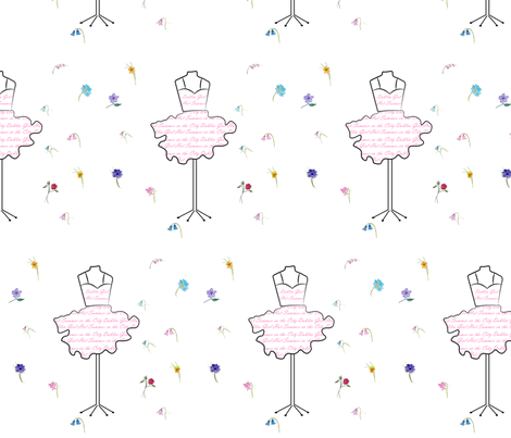 Dublin Girl Pink fabric by de-ann_black on Spoonflower - custom fabric