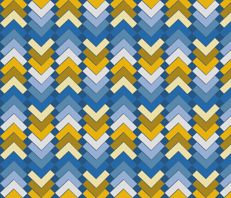 chevron squares sun on the surf fabric by glimmericks on Spoonflower - custom fabric